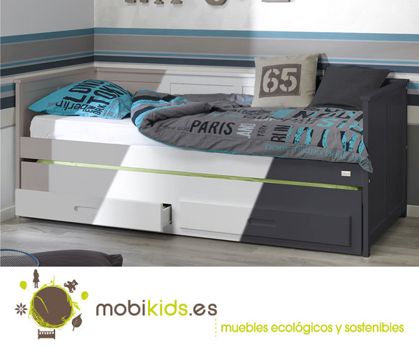 Sof cama nido juvenil del modelo swam - Sofa cama juvenil ...