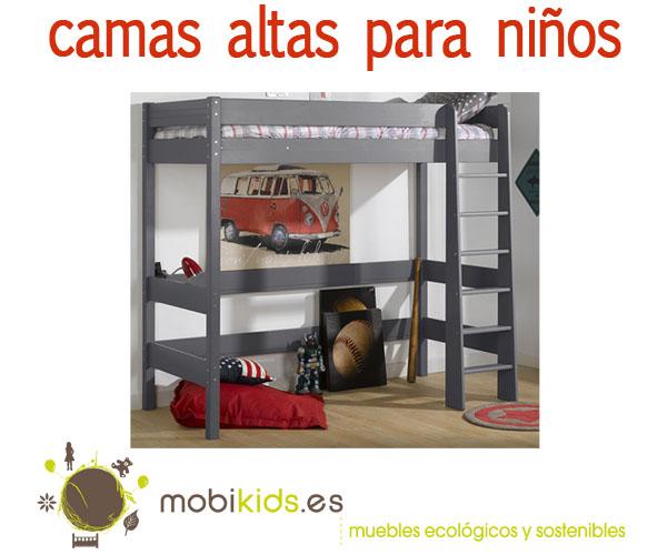 camas altas para nios para el dormitorio de tus hijos