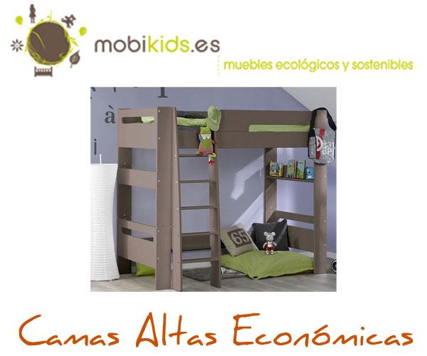 Camas altas econ micas de madera maciza y mdf - Camas infantiles economicas ...