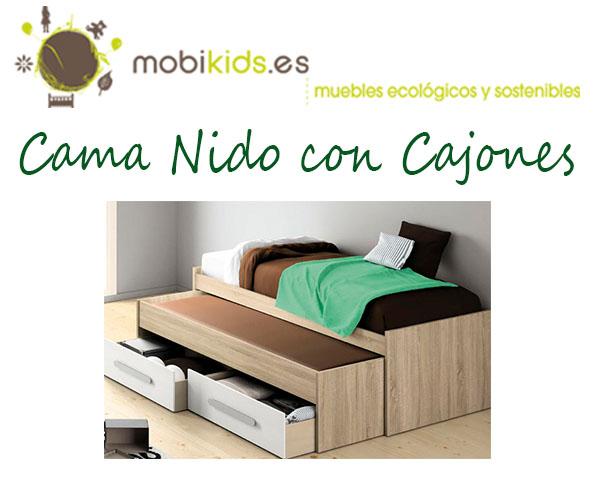 Cama nido con cajones para el dormitorio de tus hijos