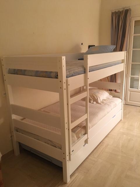 Venta de litera juvenil blanca con colchones incluidos - Litera con cama nido ...