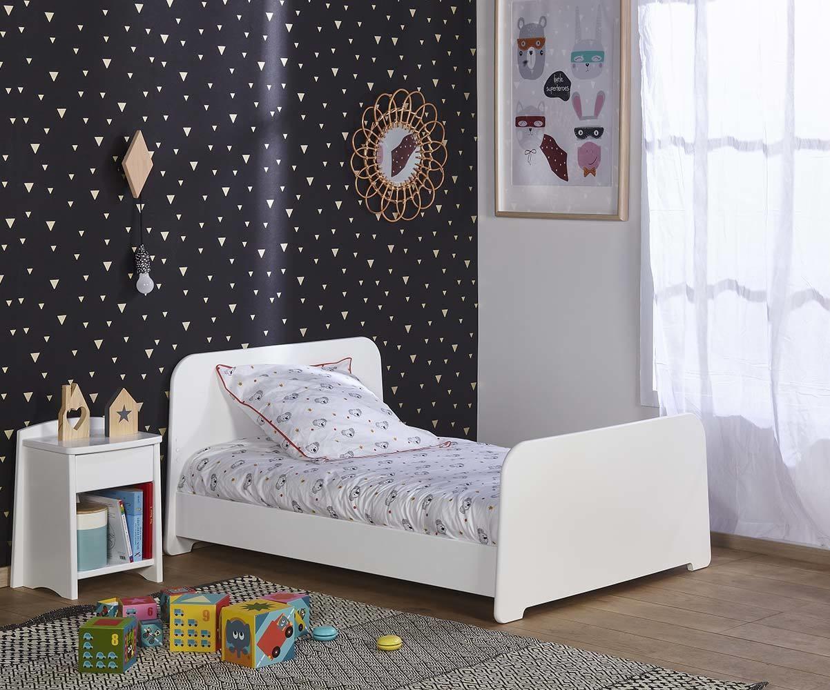 Comprar cama evolutiva 90x140 a 90x190 blanca for Cama blanca