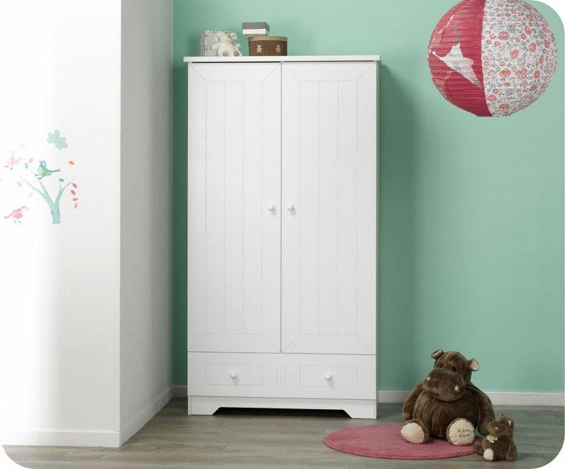 Venta armario beb con 2 puertas y 1 caj n de color blanco - Armarios para bebe ...