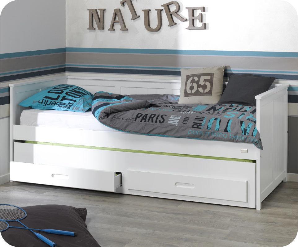 Comprar cama nido juvenil de 90x200cm con colchones y caj n - Lit enfant une personne ...