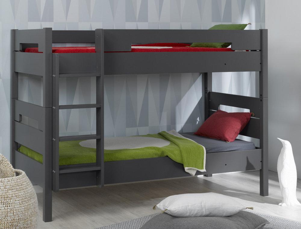 Venta de litera juvenil gris con 3 cama opcional modelo milo for Oferta literas juveniles