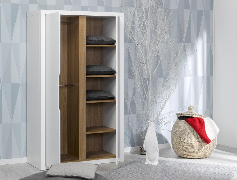 Comprar armario juvenil blanco colecci n milo for Armario juvenil blanco