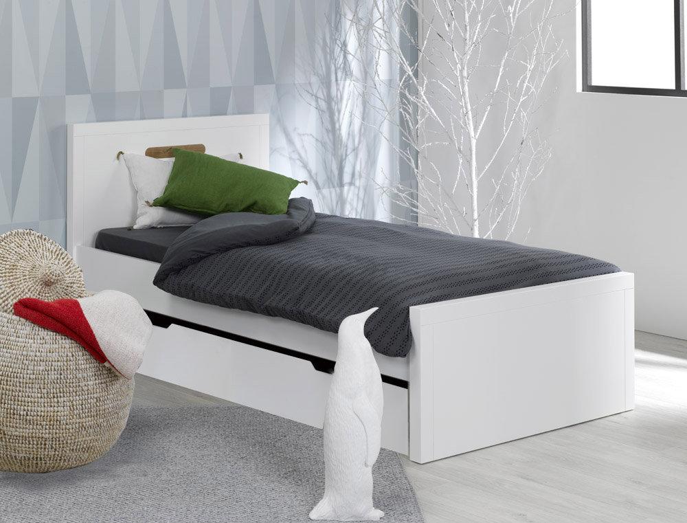 Caj n cama supletoria para litera milo 90x200 blanco for Cama supletoria