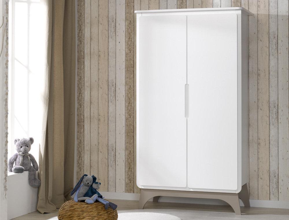 Comprar armario de beb en color blanco y lino con 2 puertas - Armarios para bebe ...