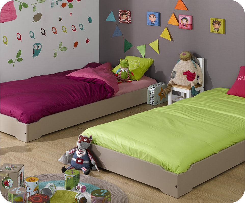 finest lote de camas apilables xcm pino macizo modelo happy with lino enfant. Black Bedroom Furniture Sets. Home Design Ideas