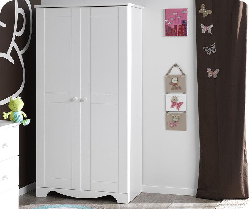 Comprar armario juvenil de madera maciza color blanco nature for Armario juvenil blanco