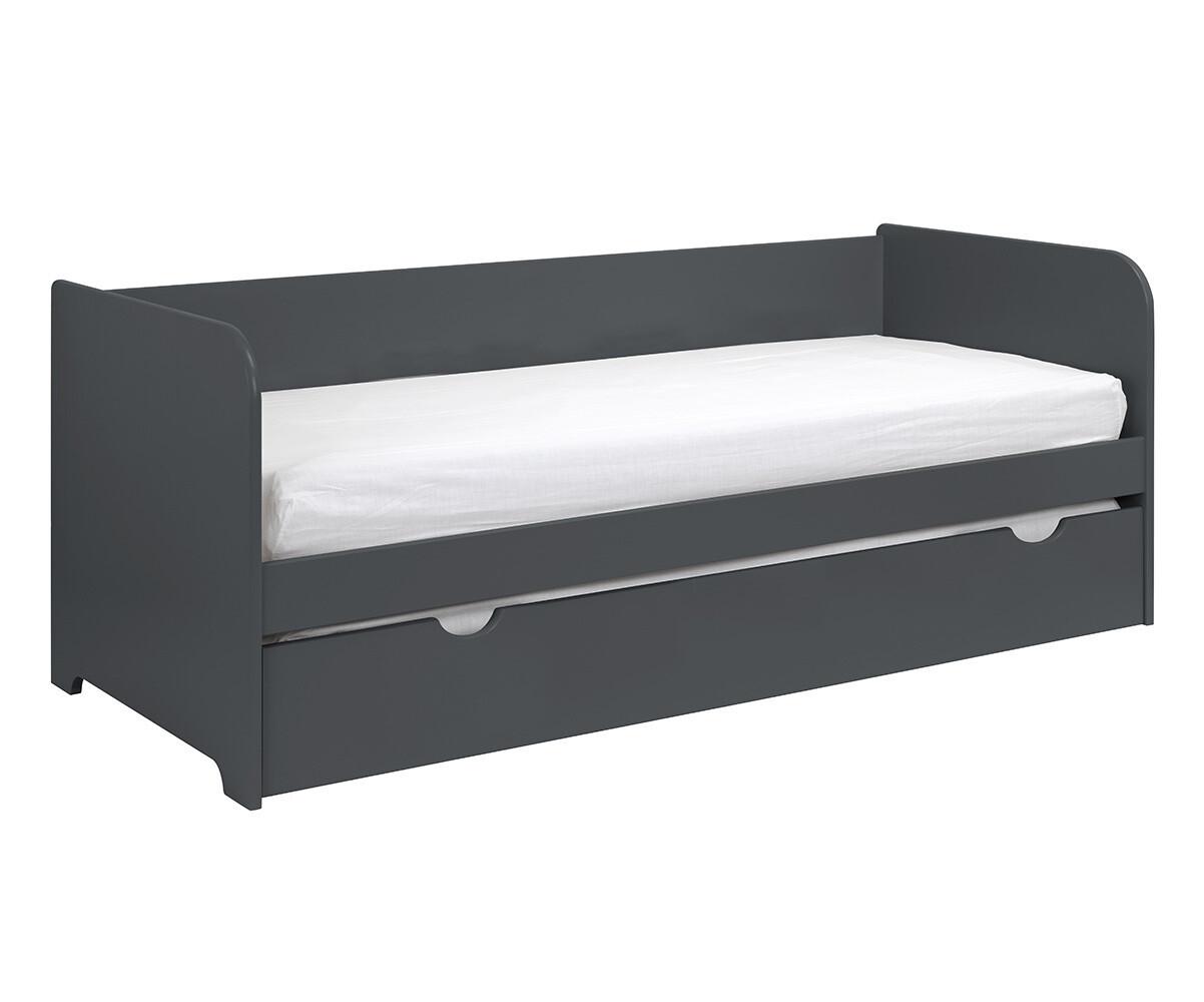 Sof cama nido juvenil bali de 80x200cm blanco for Cama nido con cajones blanca