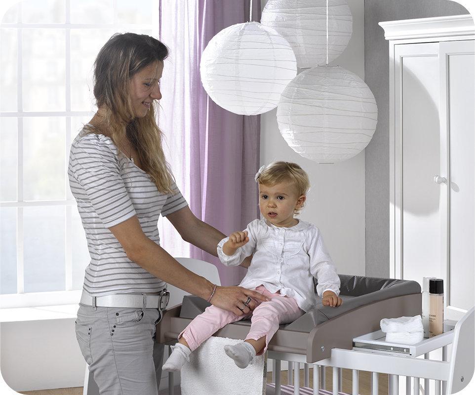 Cambiador de beb para cuna modelo paule de color lino - Cambiadores para cunas ...