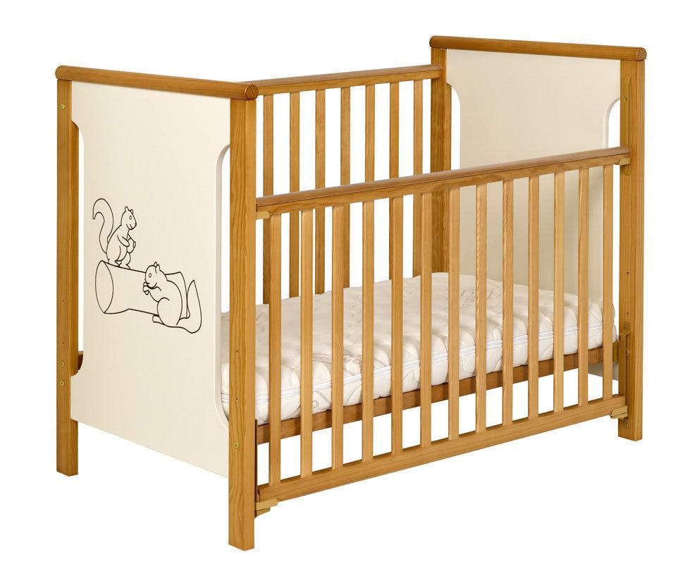 Cuna econ mica de madera maciza de 60x120cm - Lit bebe barriere coulissante ...