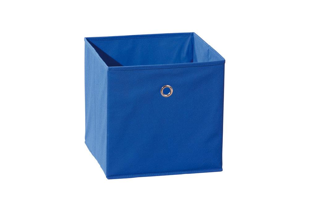 Caja de almacenaje plegable color azul - Cajas tela almacenaje ...