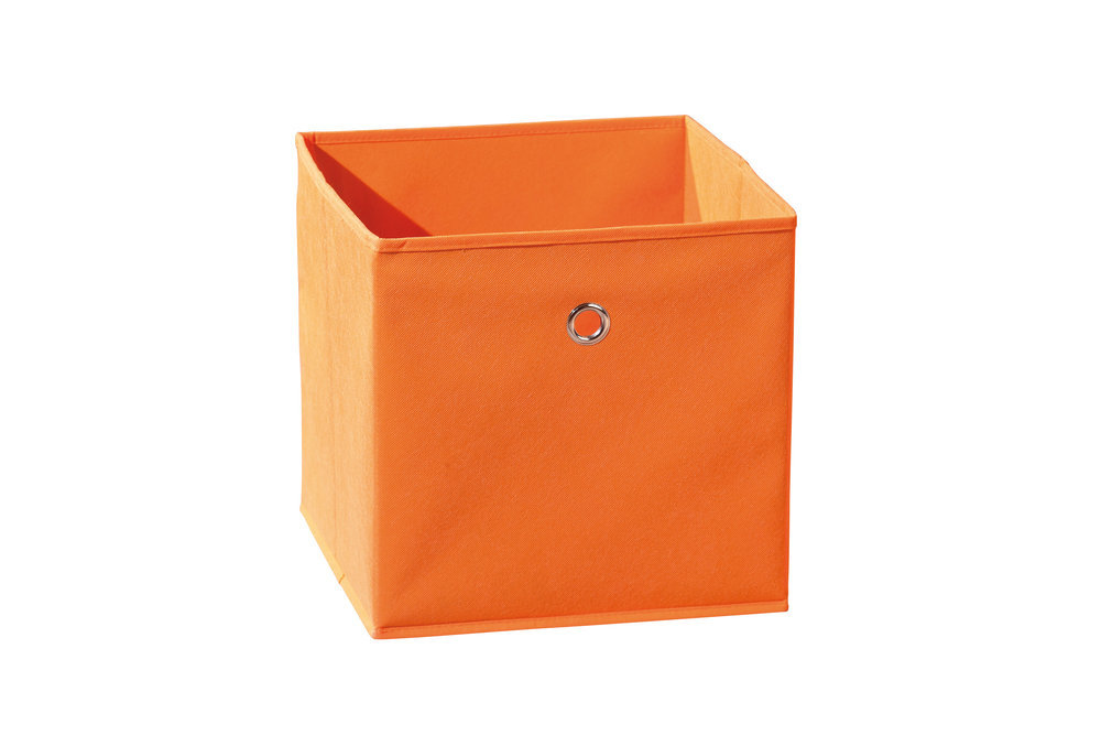 Caja de almacenaje plegable color naranja - Cajas tela almacenaje ...