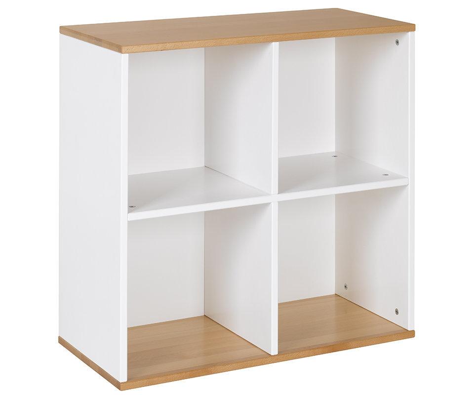 Mueble de almacenaje  4 Compartimientos Blanco y Haya