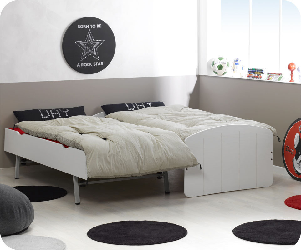 comprar cama nido blanca 90x200 con 2 colchones. Black Bedroom Furniture Sets. Home Design Ideas