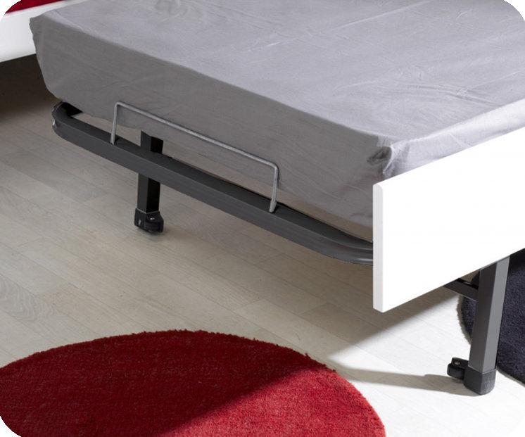 Pack cama nido 90x200cm milo blanca con 2 colchones for Cama nido con colchones