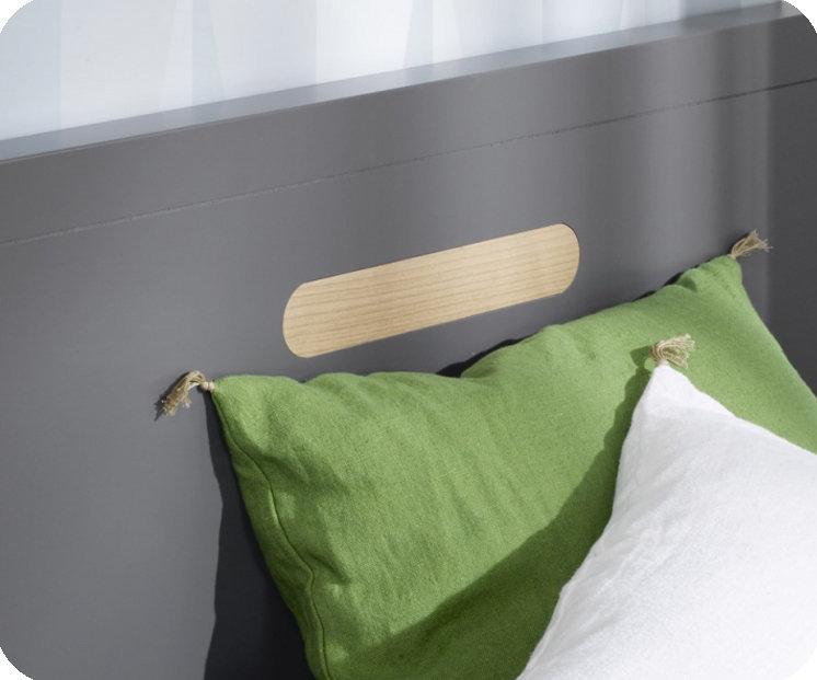 Pack cama nido 90x200cm milo gris antracita con 2 colchones for Cama nido con colchones