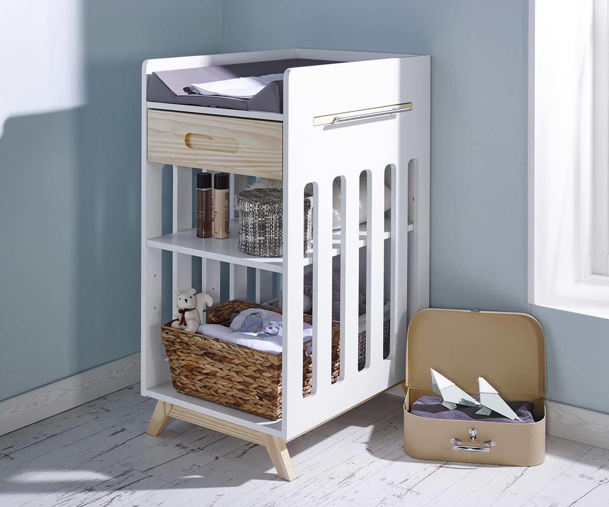 mueble cambiador para beb en blanco natural