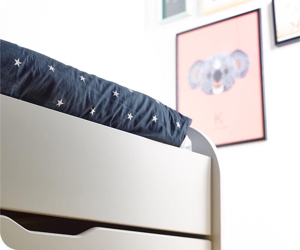 Sof cama nido con colchones de 80x200 cm blanco - Camas nido de 80 cm ...