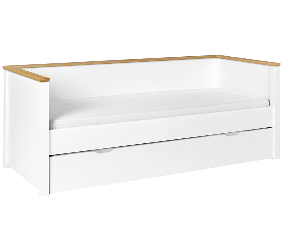 Sof cama nido nova 80x200 con colchones blanco haya for Sofa cama con almacenaje