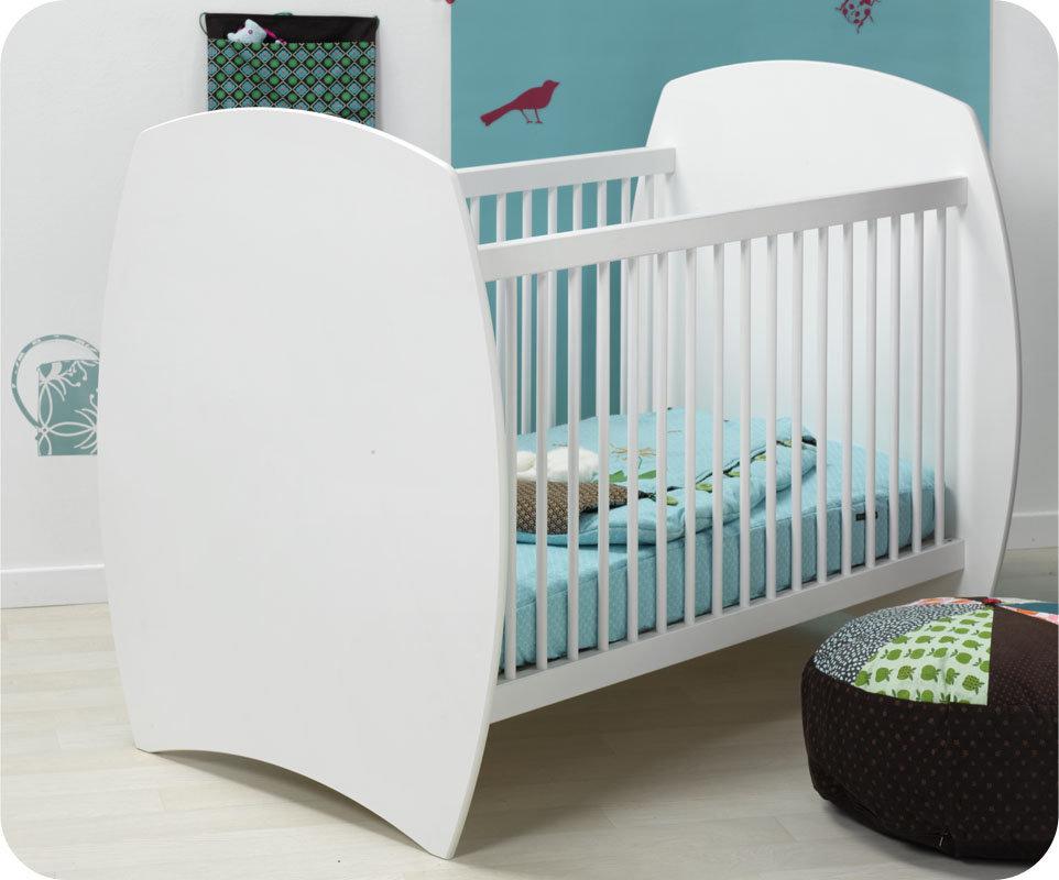 cuna beb xcm laterales de barrotes color blanco modelo medea