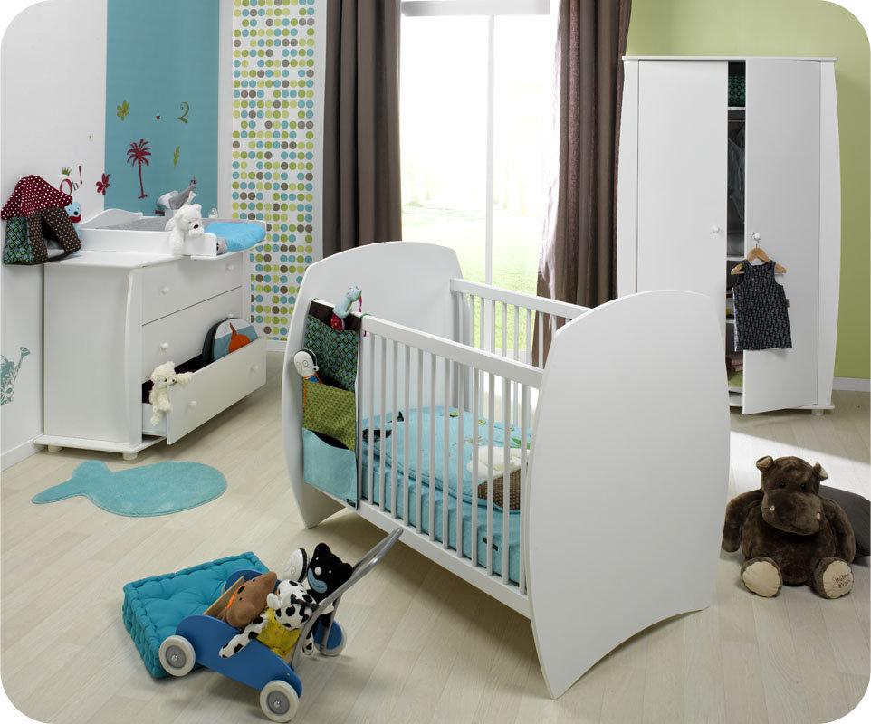 Comprar habitaci n beb en blanco cuna c moda y armario for Habitacion completa bebe boy