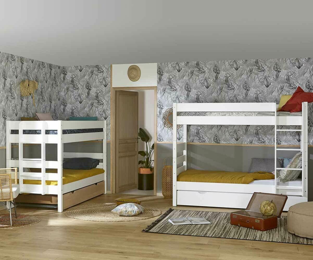 Venta litera juvenil somier incluido madera maciza blanca - Comment disposer sa chambre ...