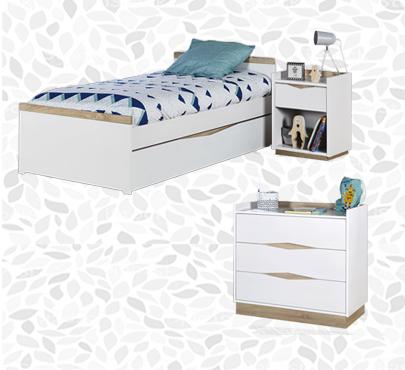 Habitaciones juveniles completas cama c moda y armario - Comodas juveniles ...