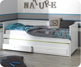 Comprar camas nido juveniles para dormitorios juveniles for Cama juvenil blanca