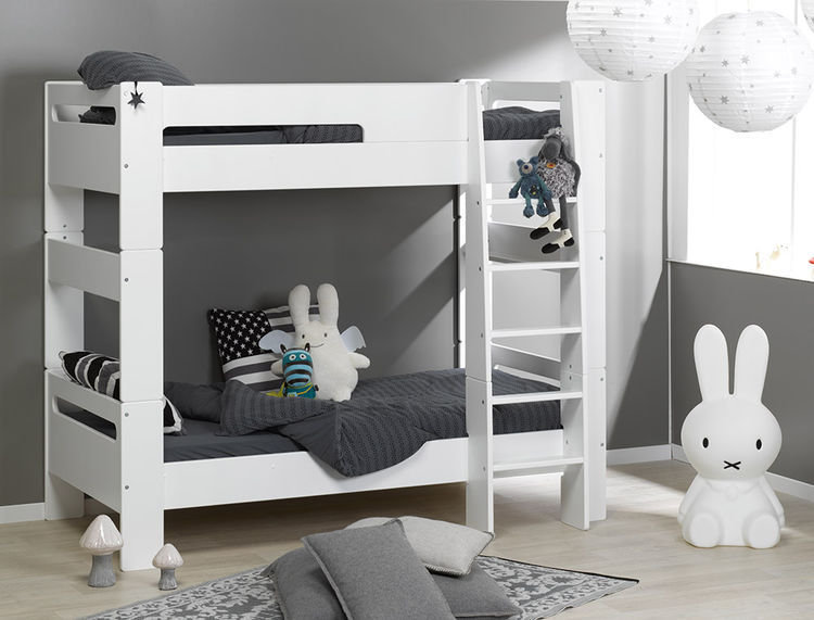 Litera juvenil modular london 90x190cm blanca - Literas lacadas en blanco ...