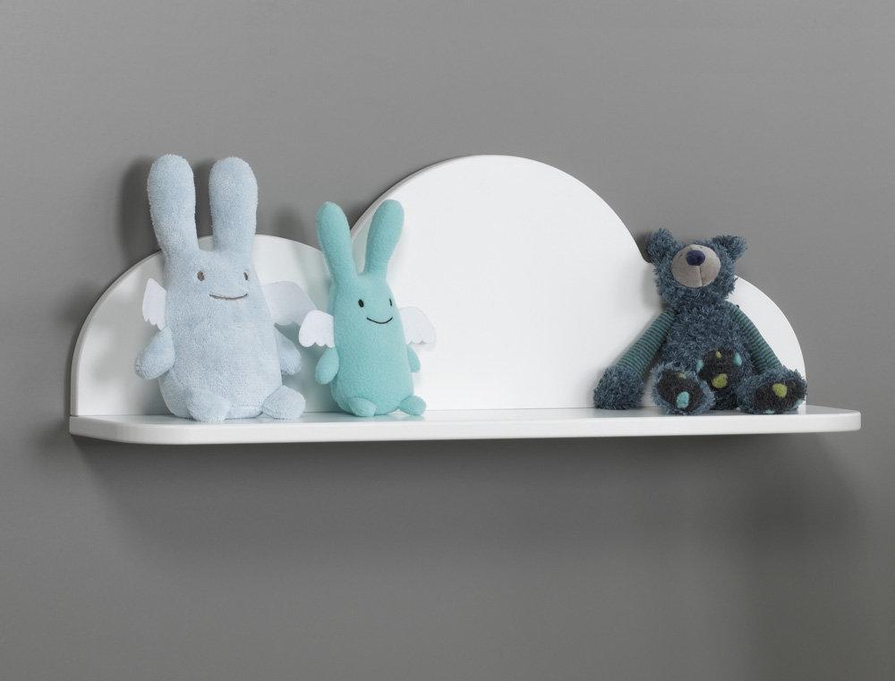 Comprar estanter a de pared nube blanca - Estanterias para bebes ...