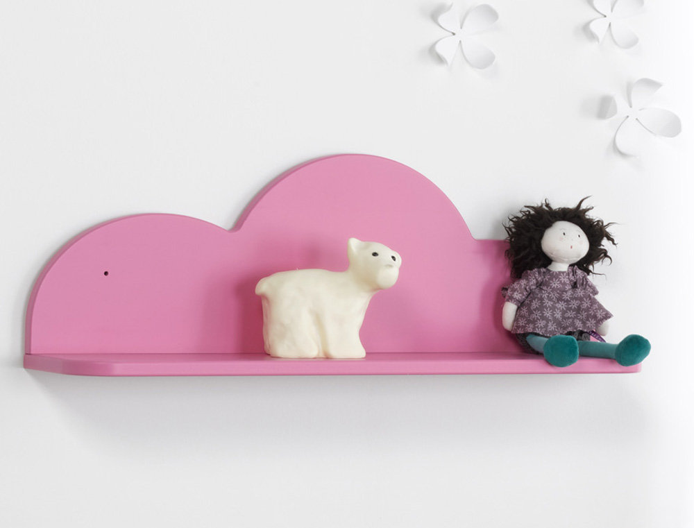 Comprar estanter a de pared nube rosa for Estanteria pared infantil
