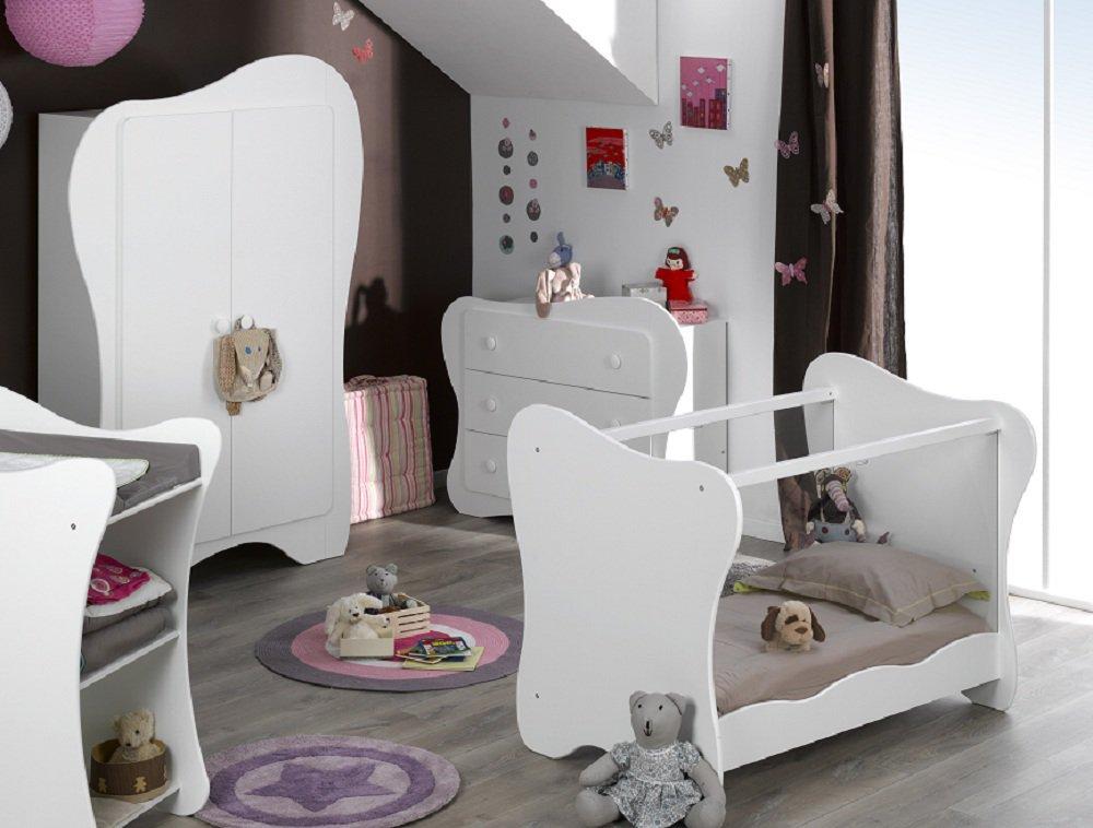 Comprar habitaci n beb completa iris blanca for Habitacion completa bebe boy
