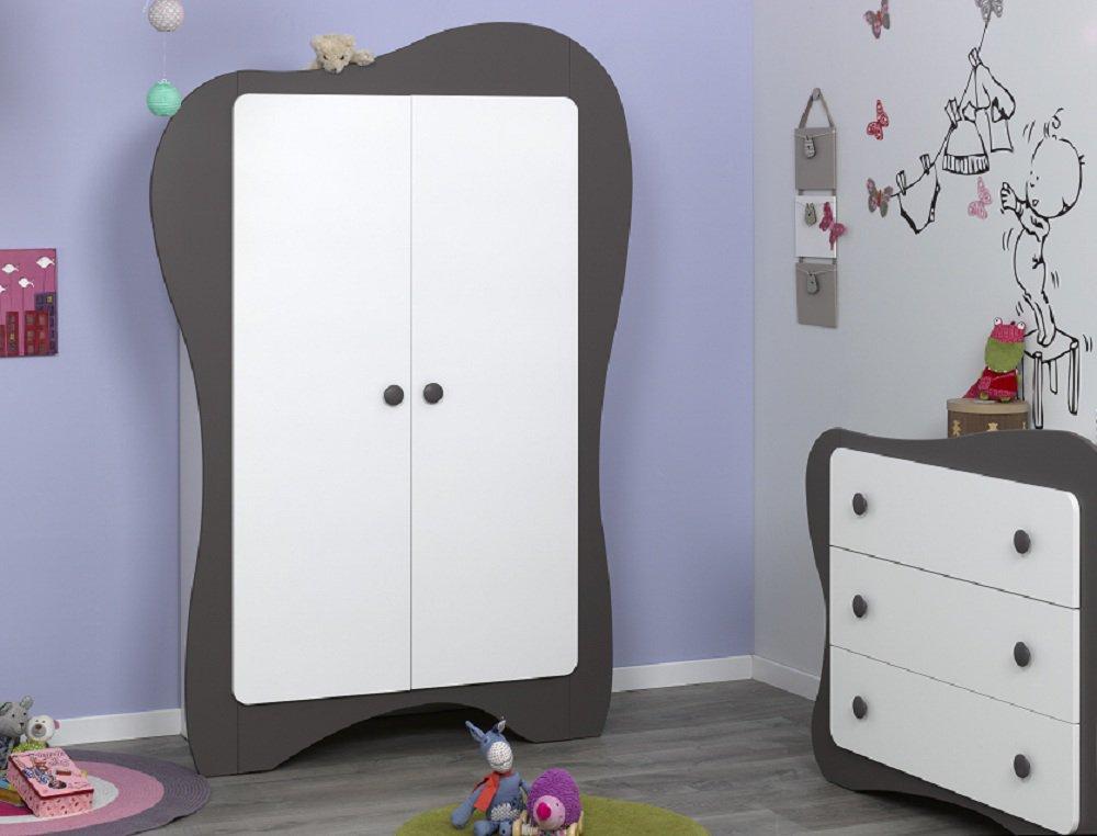 Comprar armario beb de 2 puertas color chocolate modelo iris - Armarios para bebe ...