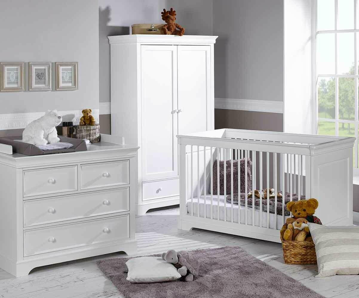Habitaci n beb completa mel cuna c moda armario for Habitacion completa bebe boy