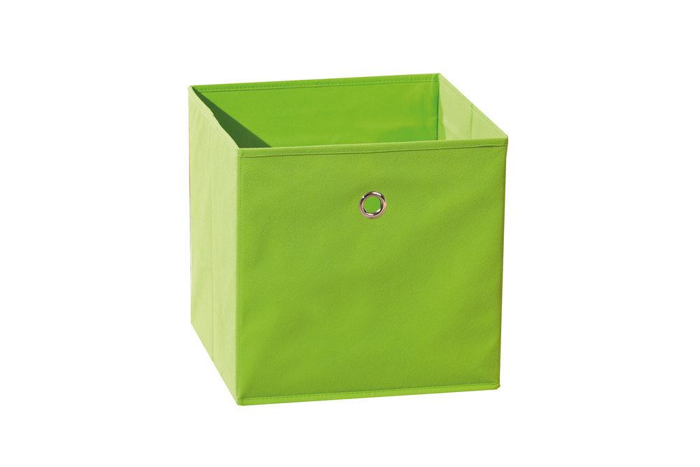 Caja de almacenaje plegable color verde - Cajas de almacenaje ...