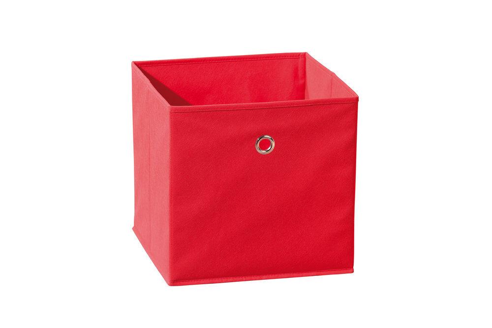 Caja de almacenaje plegable color rojo - Caja de almacenaje ...