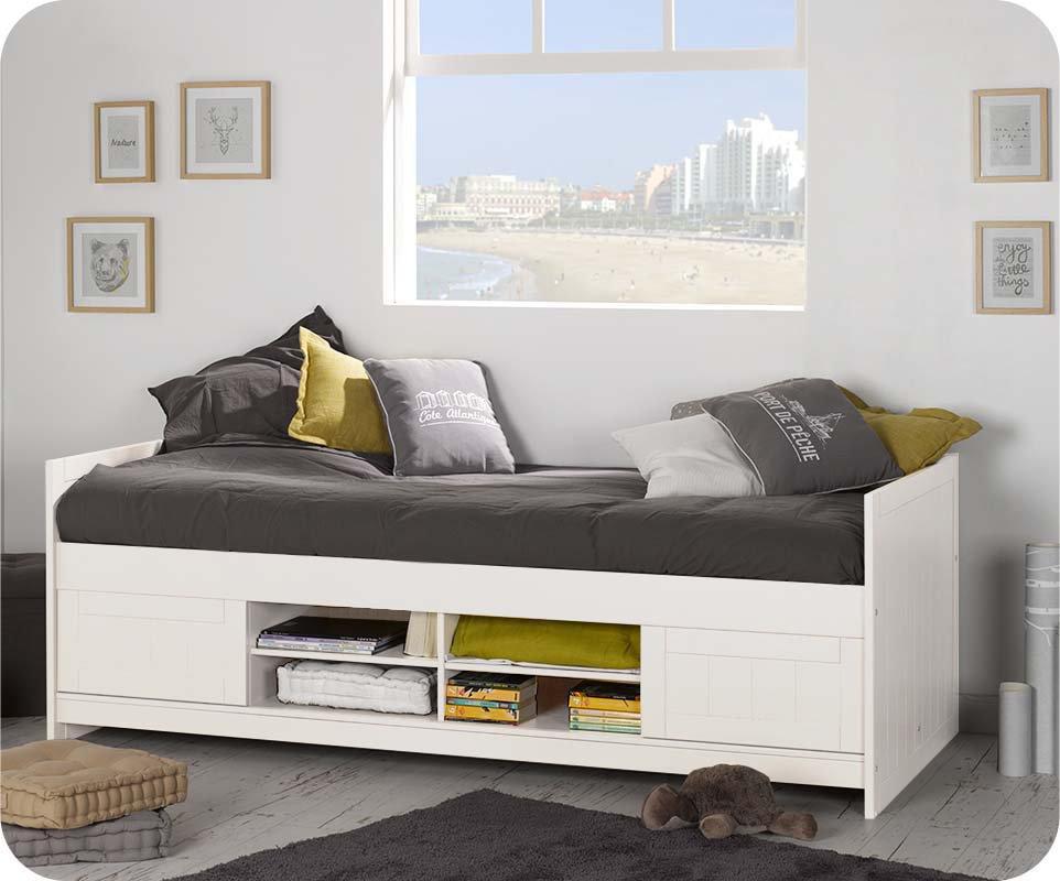 cama juvenil cama para ni os 90x200 cm blanca