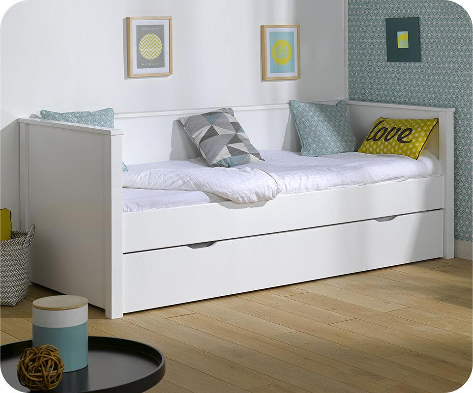 Sof cama nido 80x200cm nova blanco - Sofas cama infantiles ...