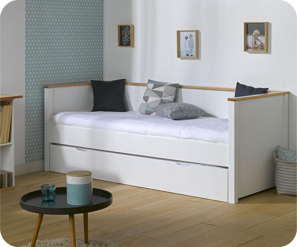 Sof cama nido 80x200cm nova blanco haya for Cama nido color haya
