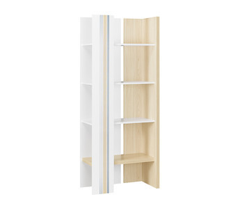 Dormitorio juvenil bora 5 muebles blanco y madera - Biblioteca madera blanca ...