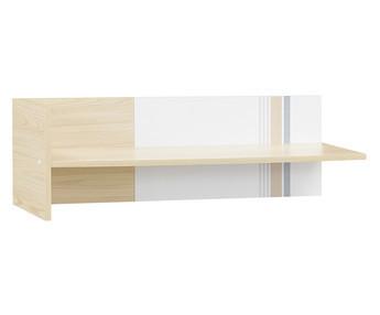 Dormitorio juvenil bora 5 muebles blanco y madera for Estanteria madera blanca