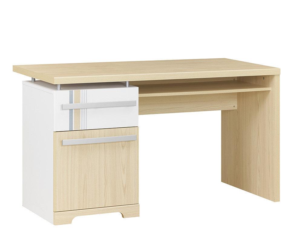 escritorio juvenil bora blanco y madera