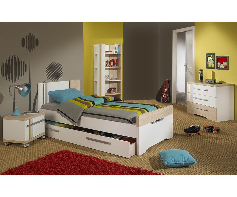Dormitorio juvenil bora 4 muebles blanco y madera - Muebles dormitorio juvenil ...