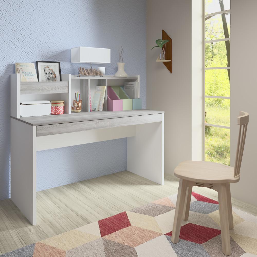 escritorio secreter juvenil leo blanco y madera