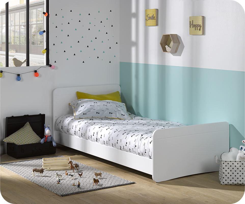 cama juvenil willow blanca 90x190