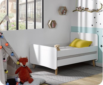 Cama evolutiva WILLOW Blanca, con patas