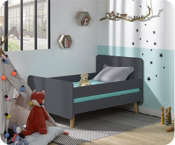 Cama evolutiva WILLOW Gris Antracita, con patas